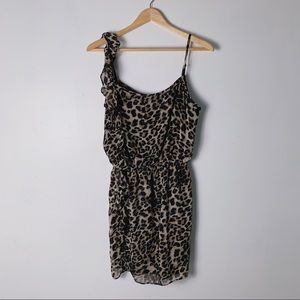 LOVE...ADY Leopard Print Ruffle Dress